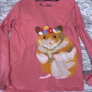 Mini Boden hamster detail shirt size 7